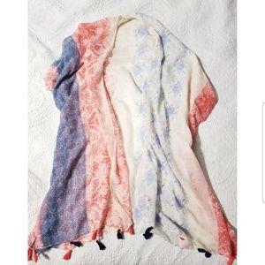 SOLD!!!! Woven Heart Sheer Kimono